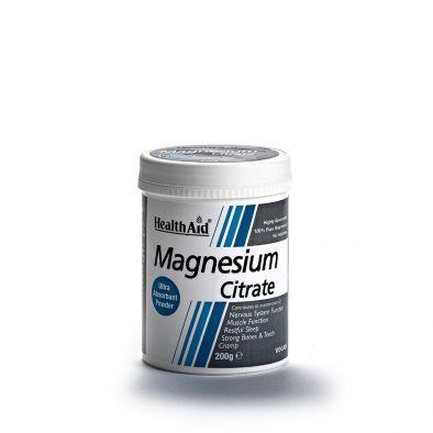Magnesium Citrate Polvere Pura 100% 200g